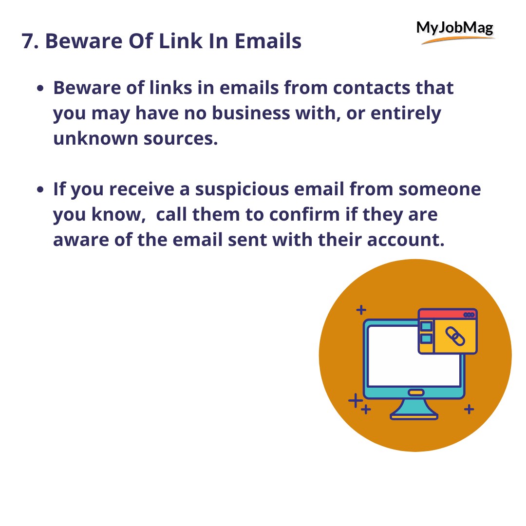 Beware Of Links In Emails