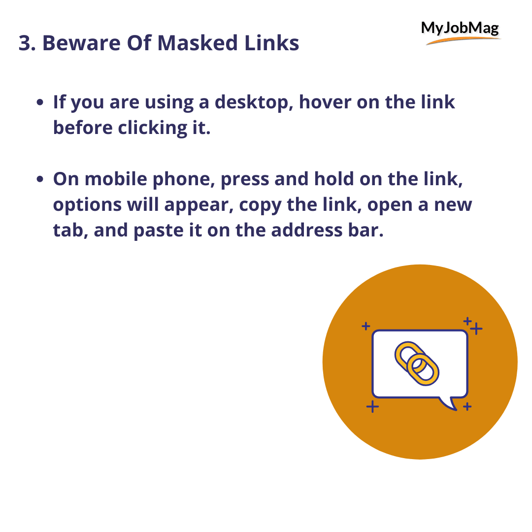 Beware Of Masked Links