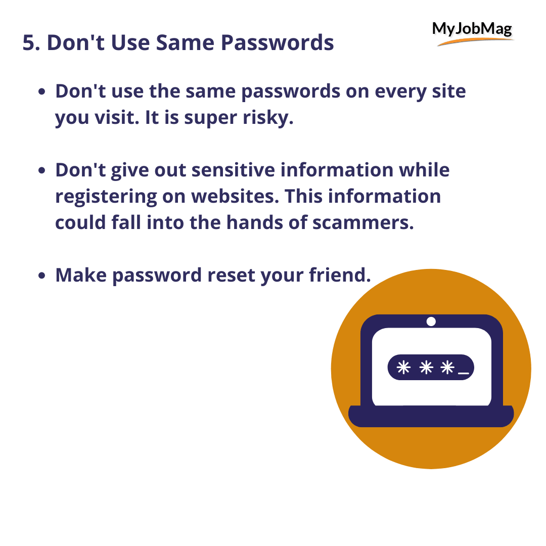 Don't Use Same Passwords