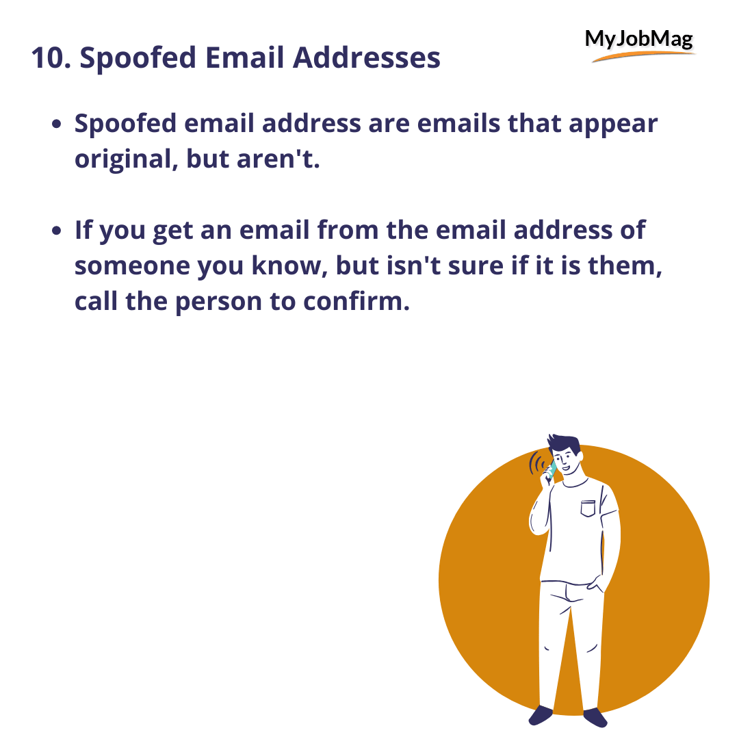 Spoofed Email Addresses