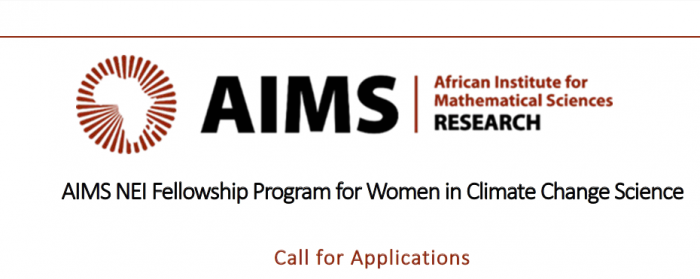 AIMS NEI Fellowship Program for Women in Climate Change Science