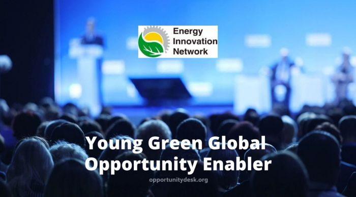 Application Open: Young Global Green Opportunity Enabler - Energy innovation Network