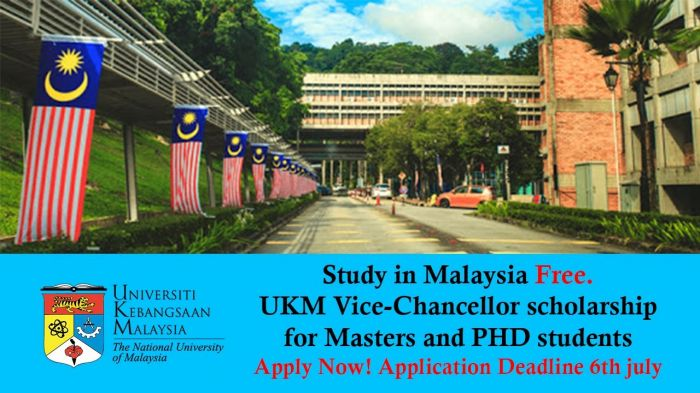The National University of Malaysia Vice Chancellor Scholarship