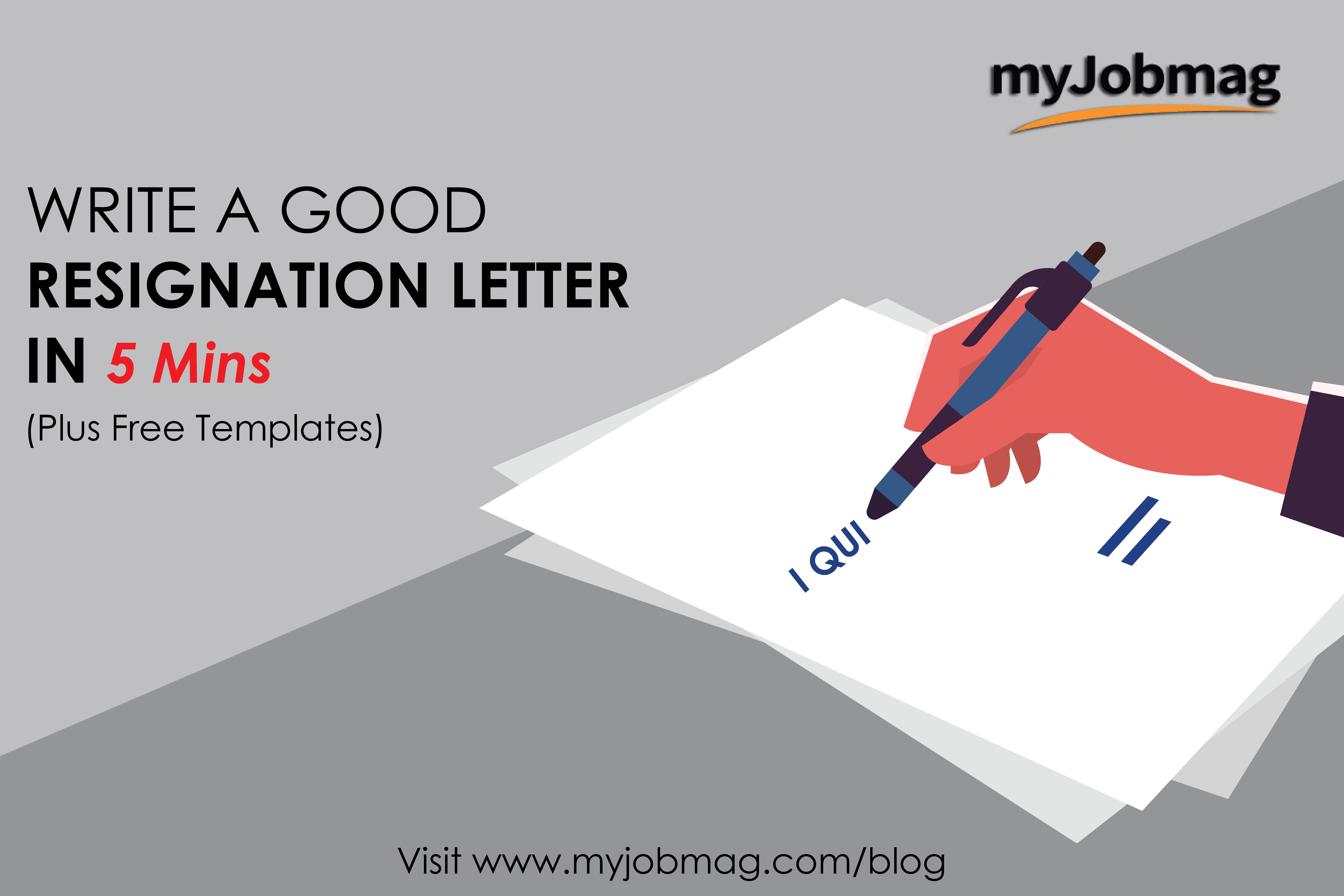 Short Resignation Letter Template from www.myjobmag.com