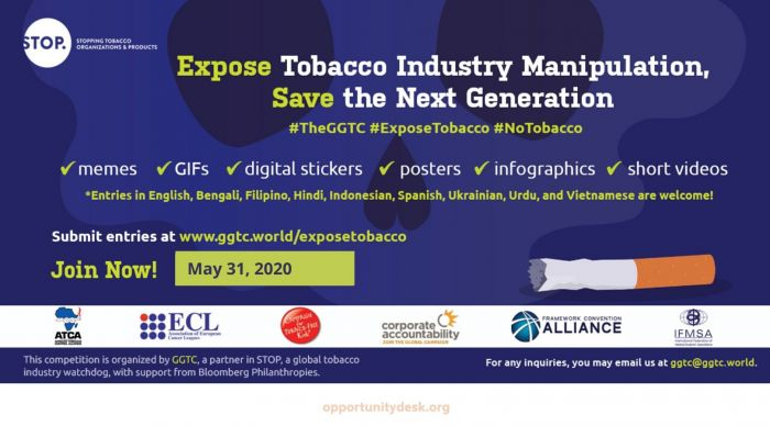 The Global Center for Good Governance in Tobacco Control 2020 Global Media Competition