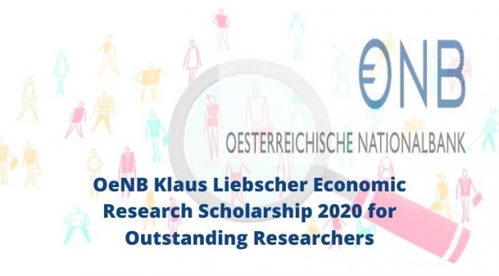 2020 Klaus Liebscher Economic Research Scholarship