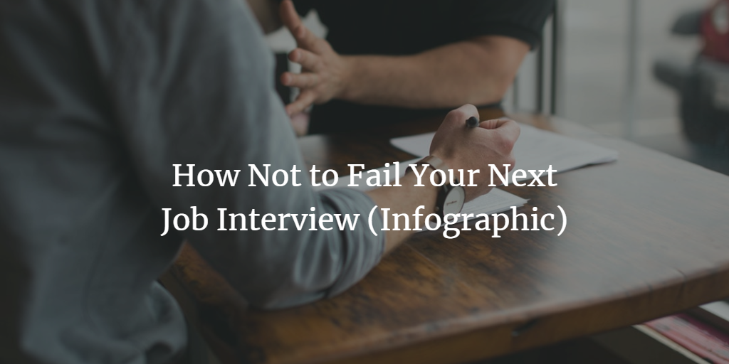 Job Interview Infographic - How Not to Fail Your Next Job Interview