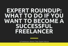 9 Freelance Expert Roundup - Freelancing Tips for Begineers banner