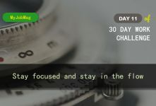 MyJobMag 30 Day Work Challenge: Day 11 - Stay focused
