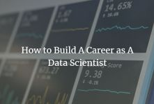 Data Science Career - How to Build A Successful Career in Data Science banner