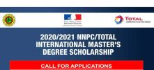 NNPC/Total International Master's Degree Scholarship 2021/2022 (Fully-Funded to France)