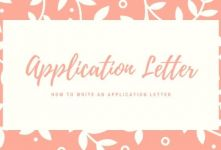 How to Write an Application Letter banner