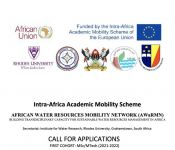 African Water Resources Mobility Network (AWaRMN) Programme - MSc/MTech Call