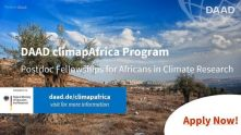 Call for Applications - DAAD ClimapAfrica Postdoctorate Fellowship Program 2020