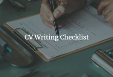 CV Checklist – 11 Steps to Build A Great CV banner