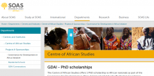 GDAI Centre of African Studies - PhD scholarships