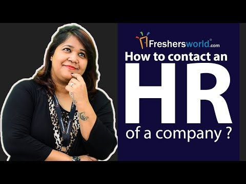 How to contact an HR of a company